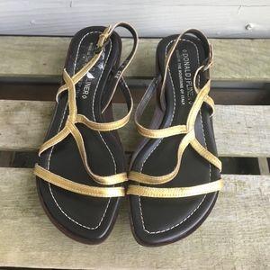 Donald J. Pliner Shoes - DONALD J. PLINER  Leather Strappy CAE Wedge Sandal